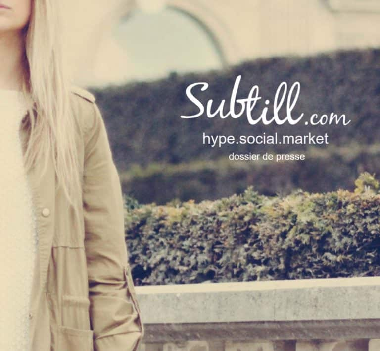 Subtill fashion marketplace press kit